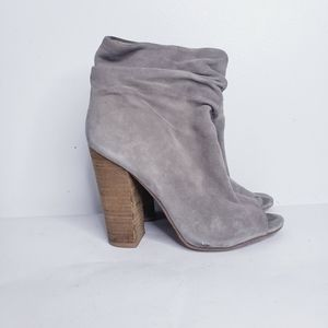 Chinese laundry laurel suede peep toe boot…